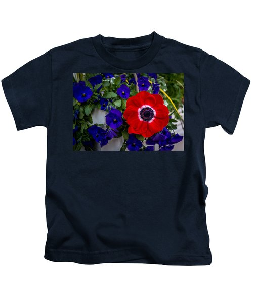 Poppy And Pansies Kids T-Shirt