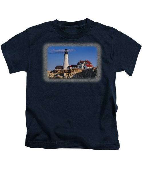 Portland Head Light No. 44 Kids T-Shirt by Mark Myhaver