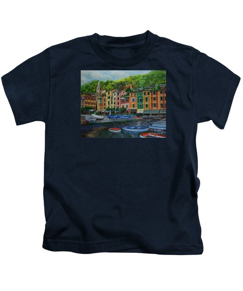 Portofino Harbor Kids T-Shirt