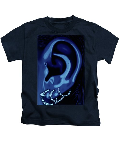 Portrait Of My Ear In Blue Kids T-Shirt
