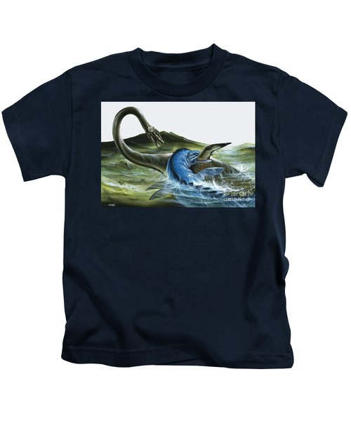 Prehistoric Creatures Kids T-Shirt by David Nockels