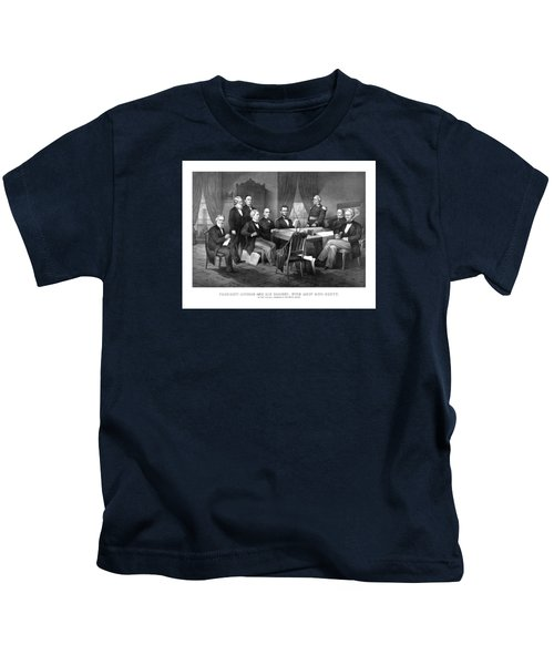 President Lincoln His Cabinet And General Scott Kids T-Shirt