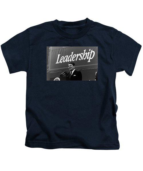 President Ronald Reagan Leadership Photo Kids T-Shirt