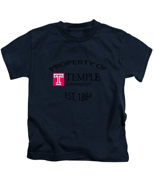 Property Of Temple University Kids T-Shirt by T Shirts R Us -