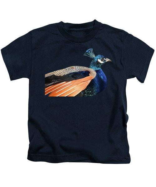 Proud Peacock Kids T-Shirt by Gill Billington