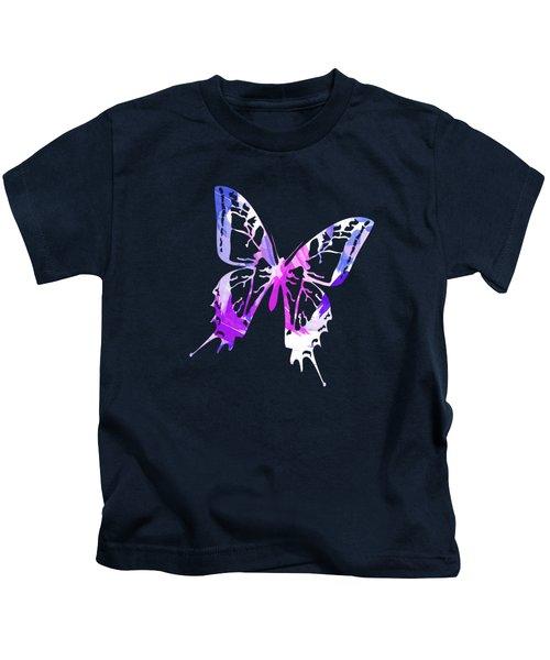 Purple Abstract Paint Pattern Kids T-Shirt
