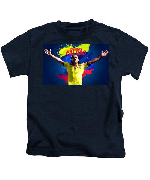 Radamel Falcao Kids T-Shirt by Semih Yurdabak