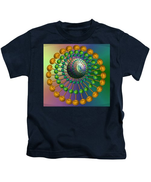 Rainbow Fractal Kids T-Shirt