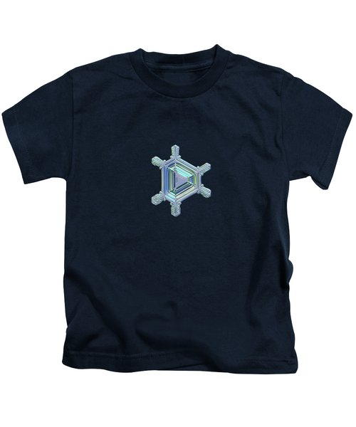 Real Snowflake Photo - Emerald Kids T-Shirt
