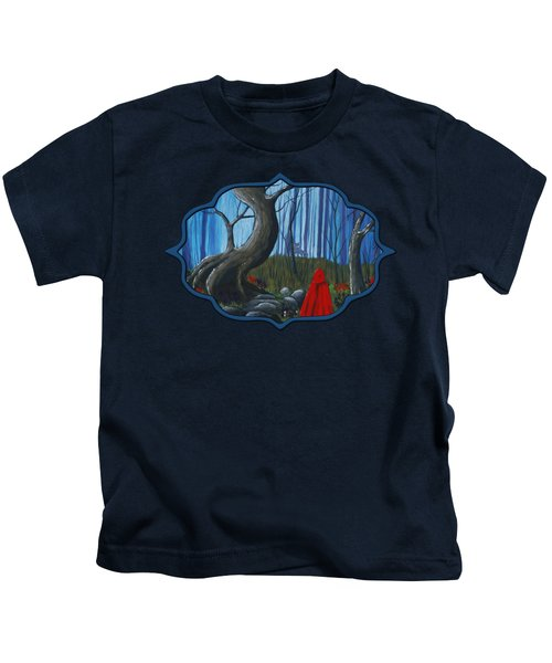 Red Riding Hood In The Forest Kids T-Shirt