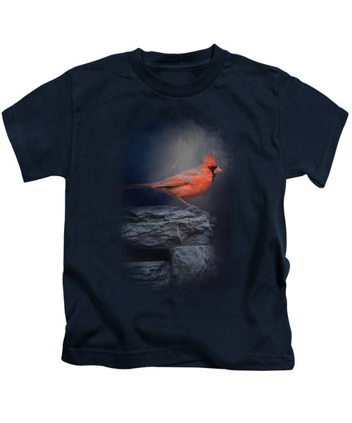 Redbird On The Rocks Kids T-Shirt