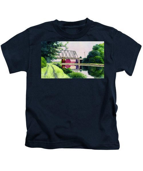 Reflections On The Erie Canal Kids T-Shirt