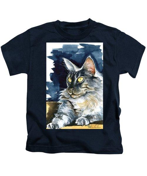 Regina - Maine Coon Painting Kids T-Shirt