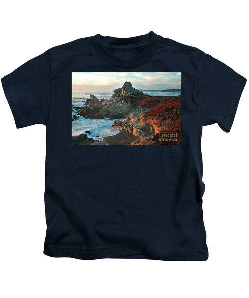 Ribera Beach Sunset Carmel California Kids T-Shirt