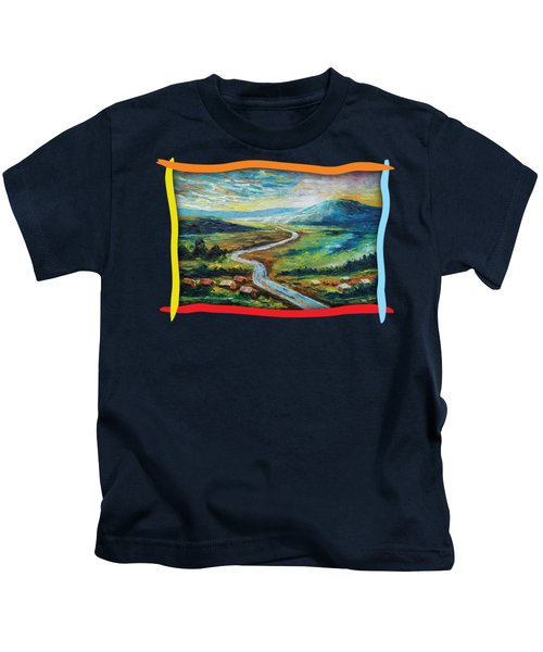 River In The Valley Kids T-Shirt