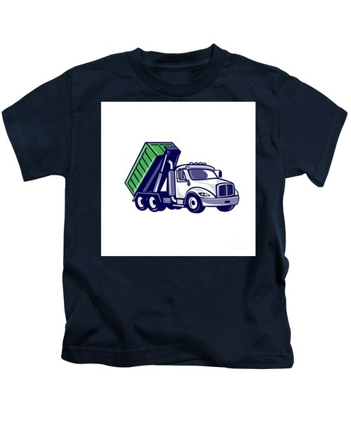 Roll-off Truck Bin Truck Cartoon Kids T-Shirt