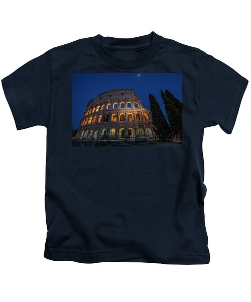 Roman Coliseum In The Evening  Kids T-Shirt