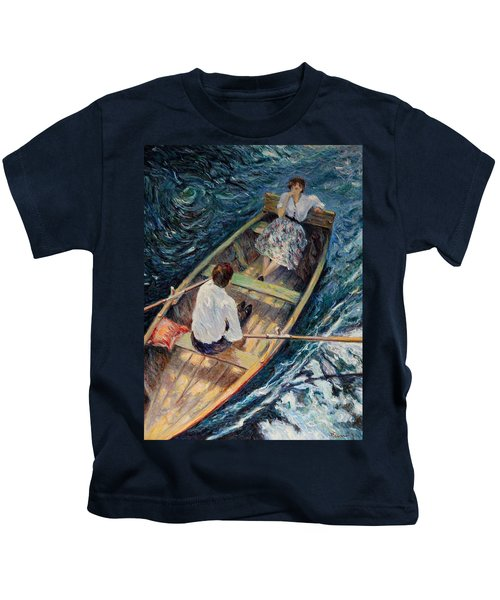 Dordogne , Beynac-et-cazenac , France ,romantic Boat Trip Kids T-Shirt