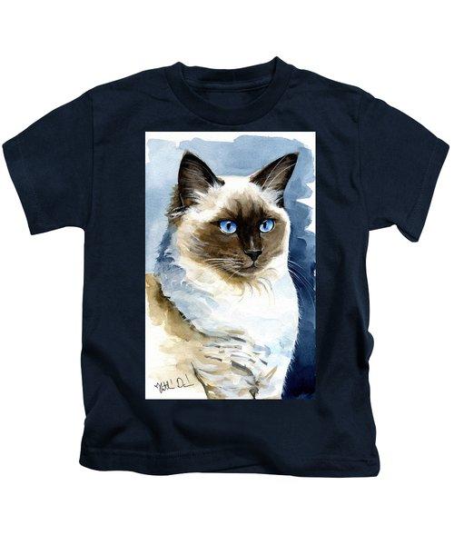 Roxy - Ragdoll Cat Portrait Kids T-Shirt