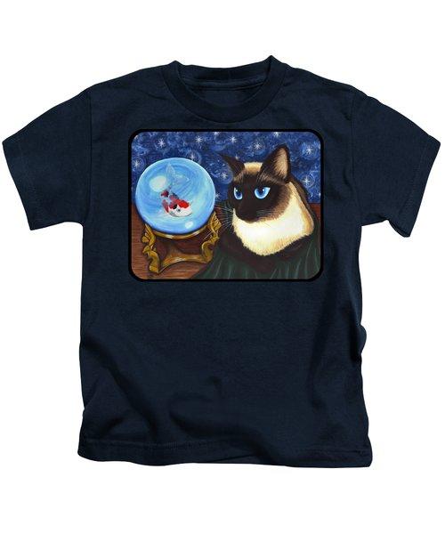 Rue Rue's Fortune - Siamese Cat Koi Kids T-Shirt