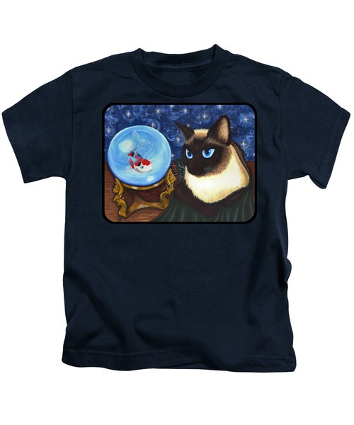 Rue Rue's Fortune - Siamese Cat Koi Kids T-Shirt