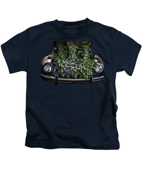 Running On Flowers Kids T-Shirt