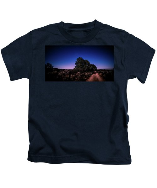 Rural Starlit Road Kids T-Shirt