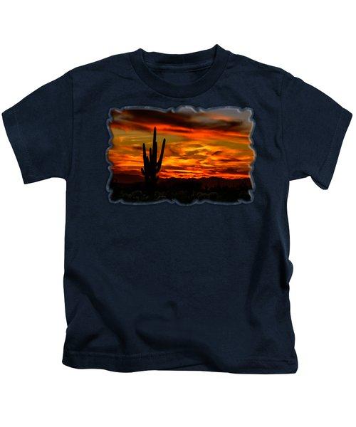 Saguaro Sunset H51 Kids T-Shirt