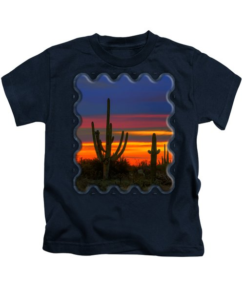 Saguaro Sunset V30 Kids T-Shirt