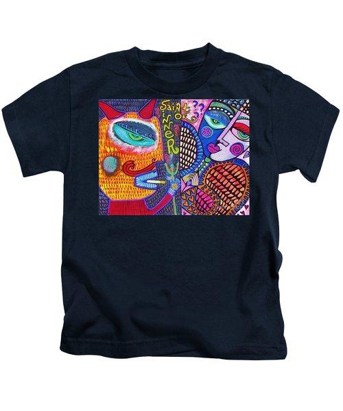 -sold- Saint Heart Or Sinner  Kids T-Shirt