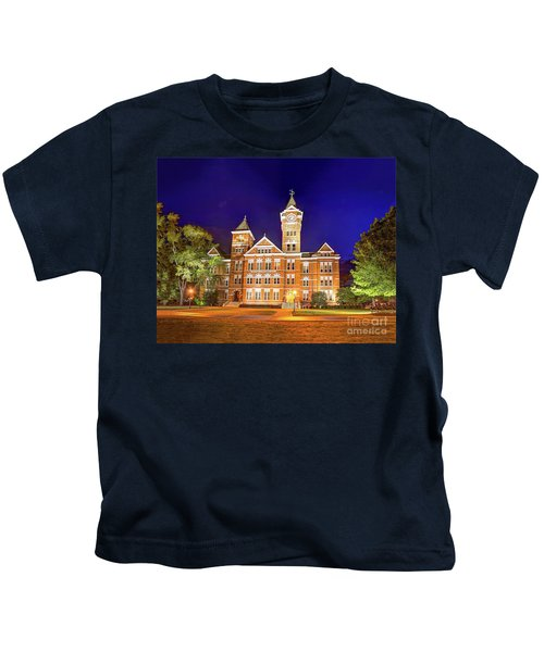 Samford Hall At Night Kids T-Shirt