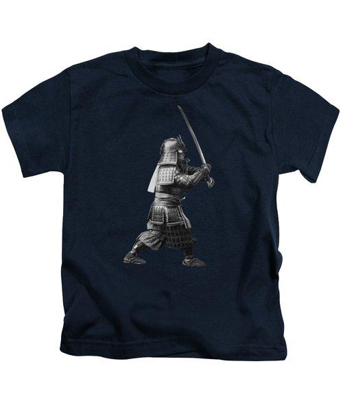 Samurai Brandishing His Sword - Japanese History Kids T-Shirt