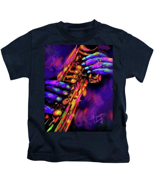 Saxy Hands Kids T-Shirt