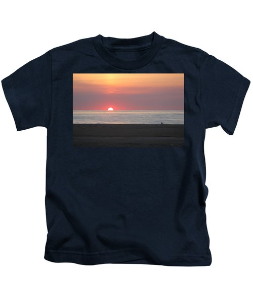 Seagull Watching Sunrise Kids T-Shirt