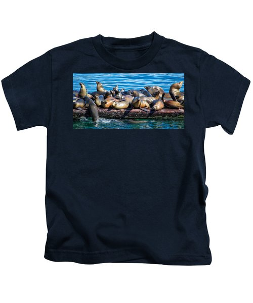 Sealions On A Floating Dock Another View Kids T-Shirt