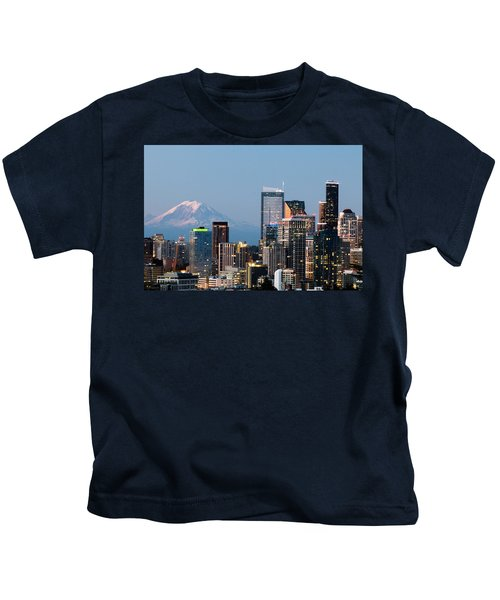 Seattle At First Light I Kids T-Shirt