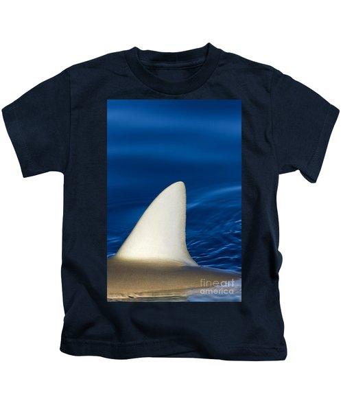 Shark Fin And Blue Kids T-Shirt