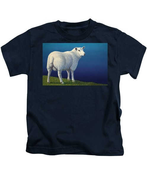 Sheep At The Edge Kids T-Shirt