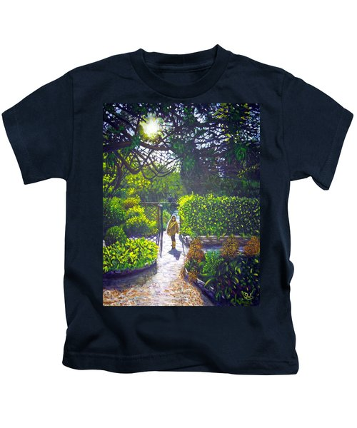 Shirley At Chalice Well Kids T-Shirt