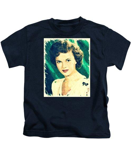 Shirley Temple By John Springfield Kids T-Shirt by John Springfield