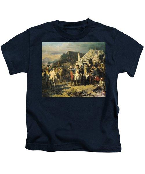 Siege Of Yorktown Kids T-Shirt by Louis Charles Auguste  Couder