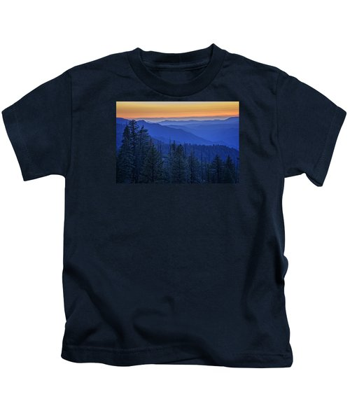Sierra Fire Kids T-Shirt by Rick Berk