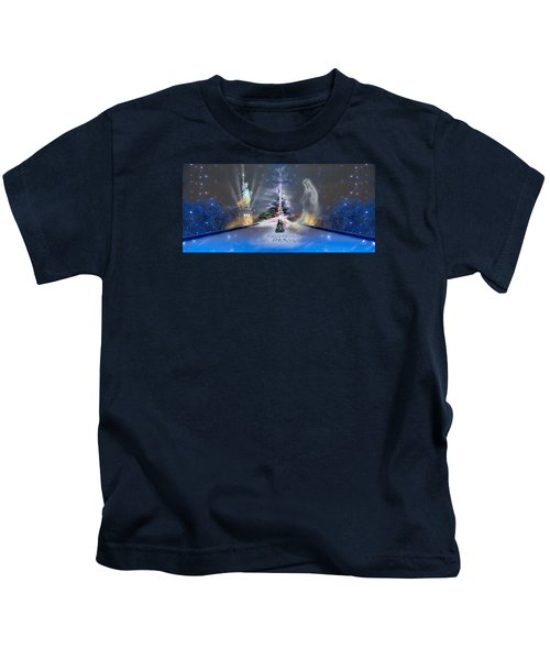 Silent Night  A Kiss From Paris And Back Kids T-Shirt