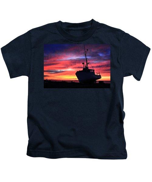 Silhouette Sunset Kids T-Shirt