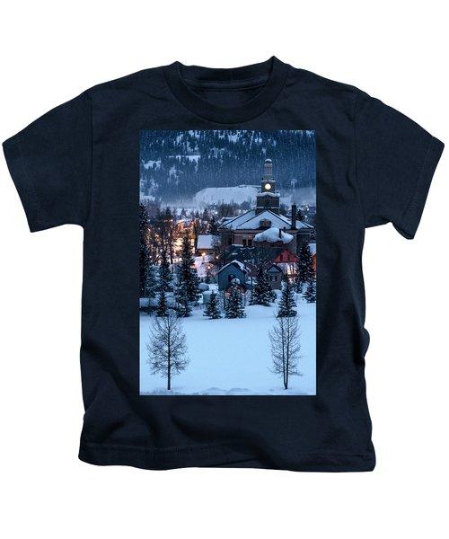 Silverton At Night Kids T-Shirt