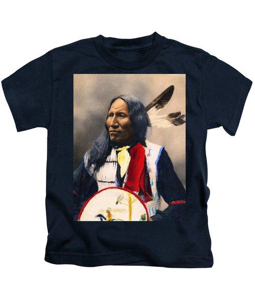 Sioux Chief Portrait Kids T-Shirt