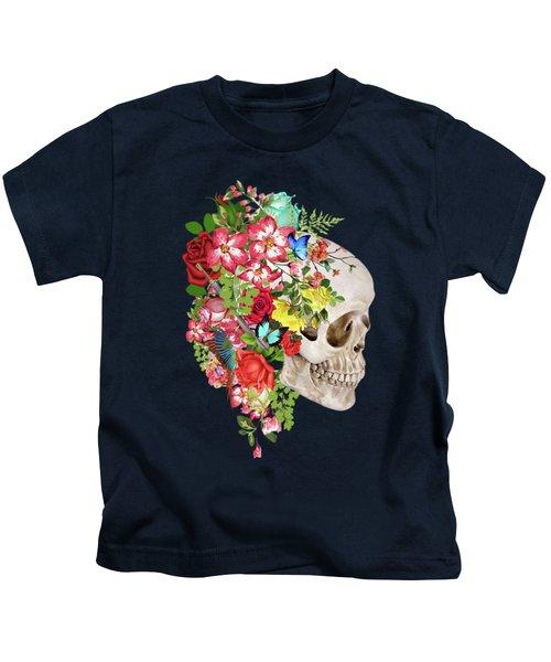 Skull Floral 2 Kids T-Shirt