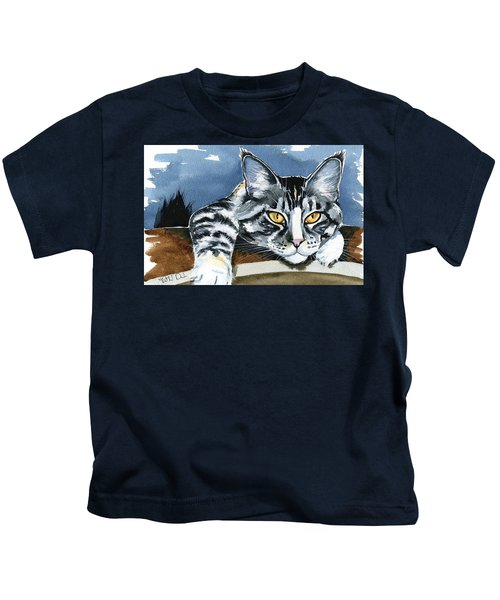 Smilla - Maine Coon Cat Painting Kids T-Shirt
