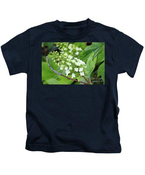Snow Queen Hydrangea Kids T-Shirt