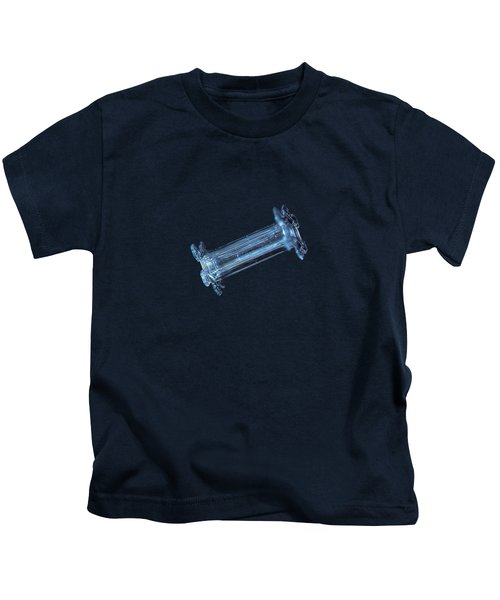 Snowflake Photo - Capped Column Kids T-Shirt